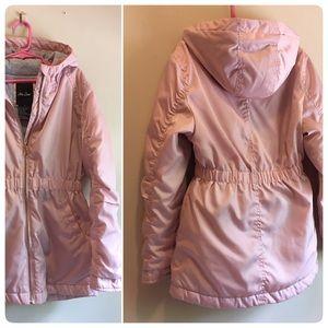 Me Jane Pink Coat Rose Gold Zipper Girl Hooded